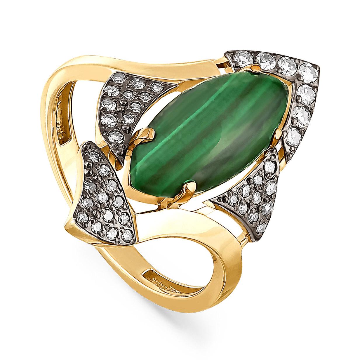 Кольцо из лимонного золота Бриллиант и Прочие арт. 11-21025-4600 11-21025-4600