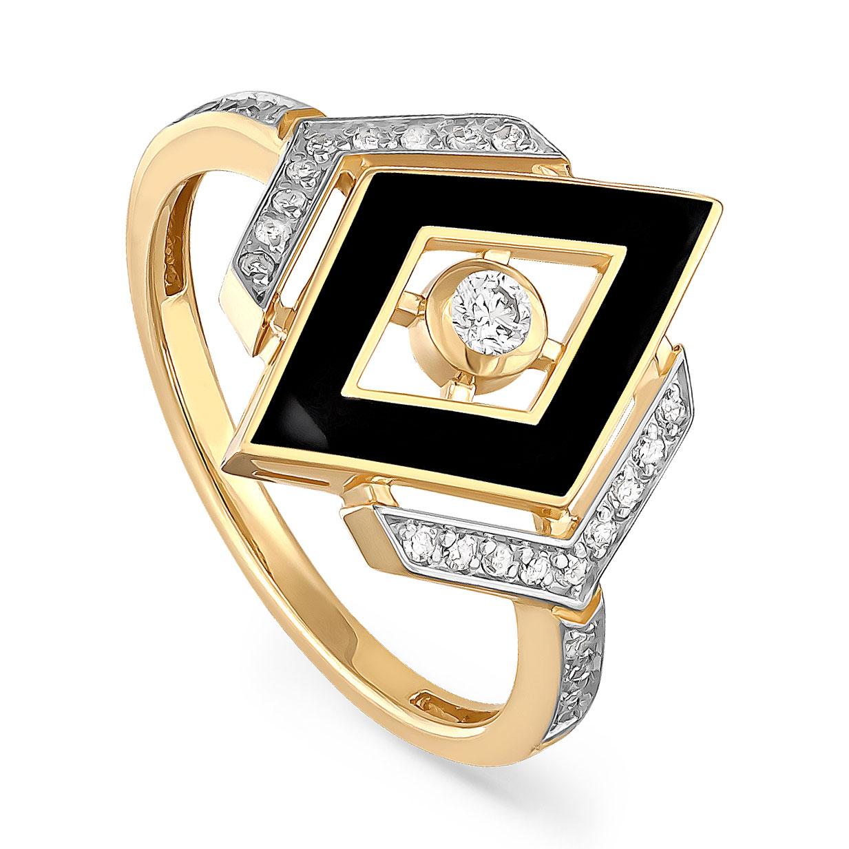 Кольцо из лимонного золота Бриллиант арт. 11-21044-1002 11-21044-1002