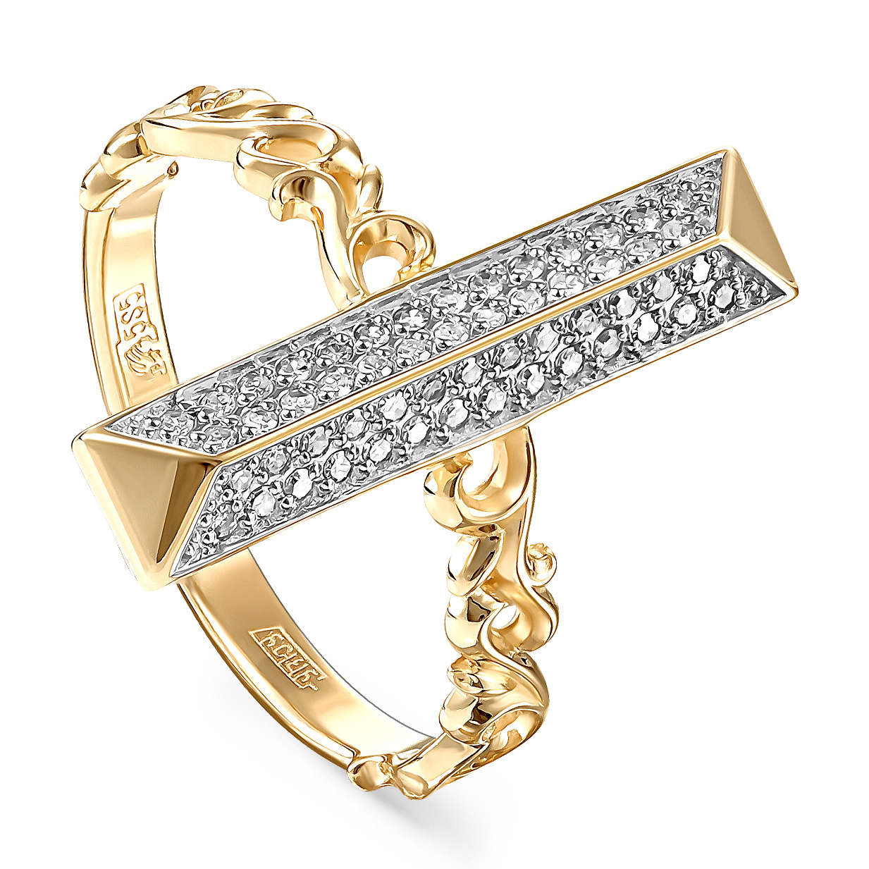 Кольцо из лимонного золота Бриллиант арт. 11-21057-1000 11-21057-1000