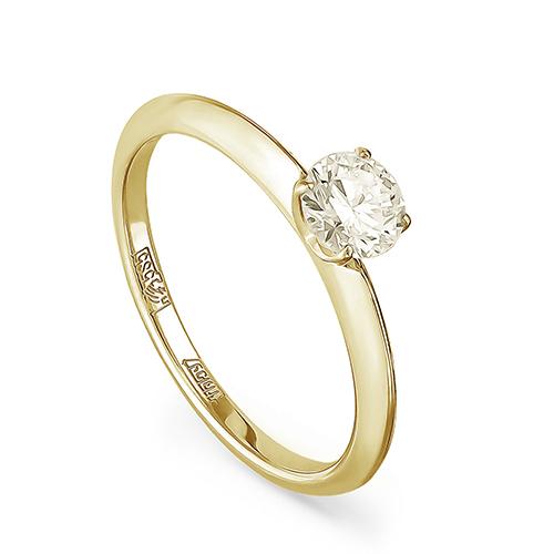 Кольцо из лимонного золота Бриллиант арт. 11-21069-9200 11-21069-9200
