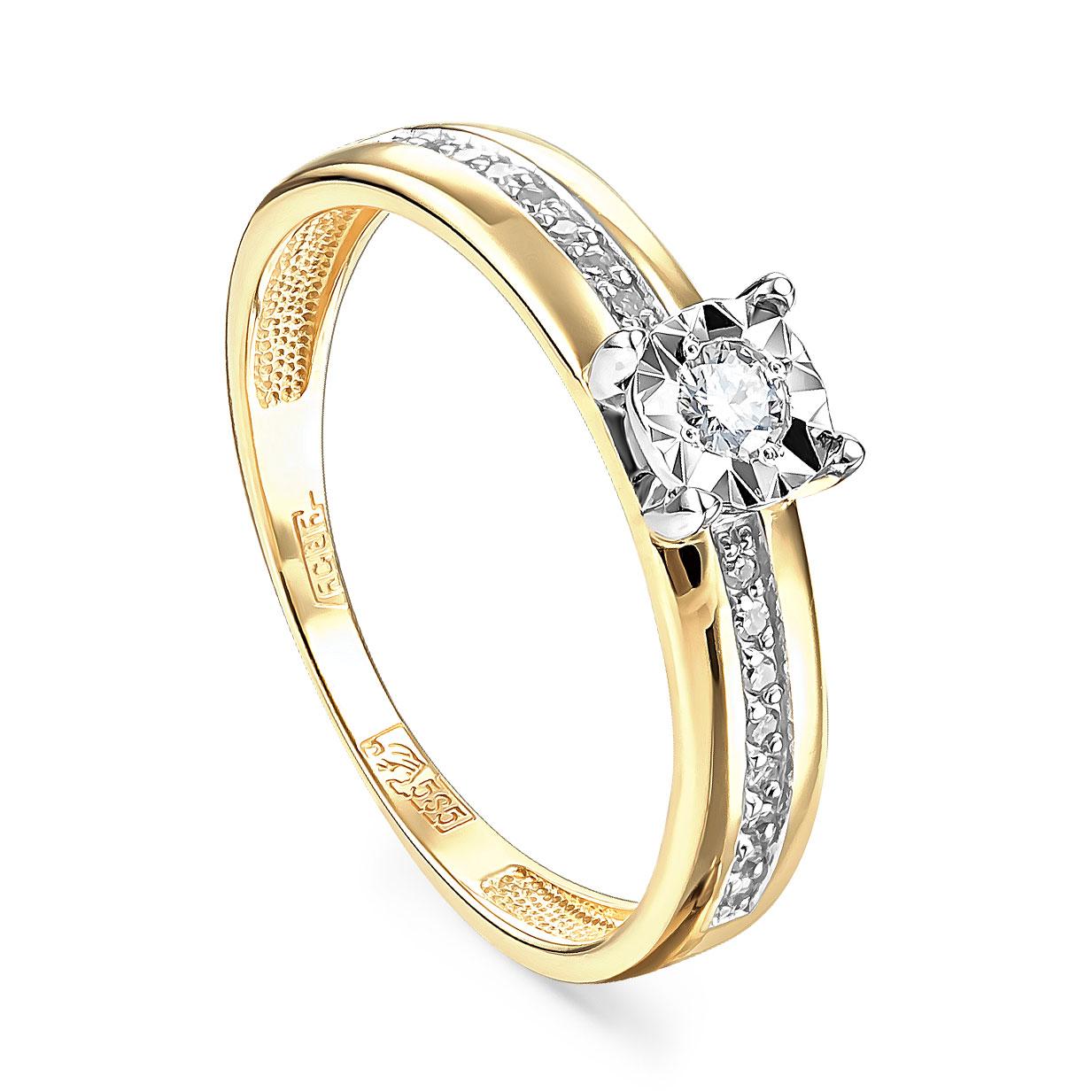 Кольцо из лимонного золота Бриллиант арт. 11-21086-1000 11-21086-1000