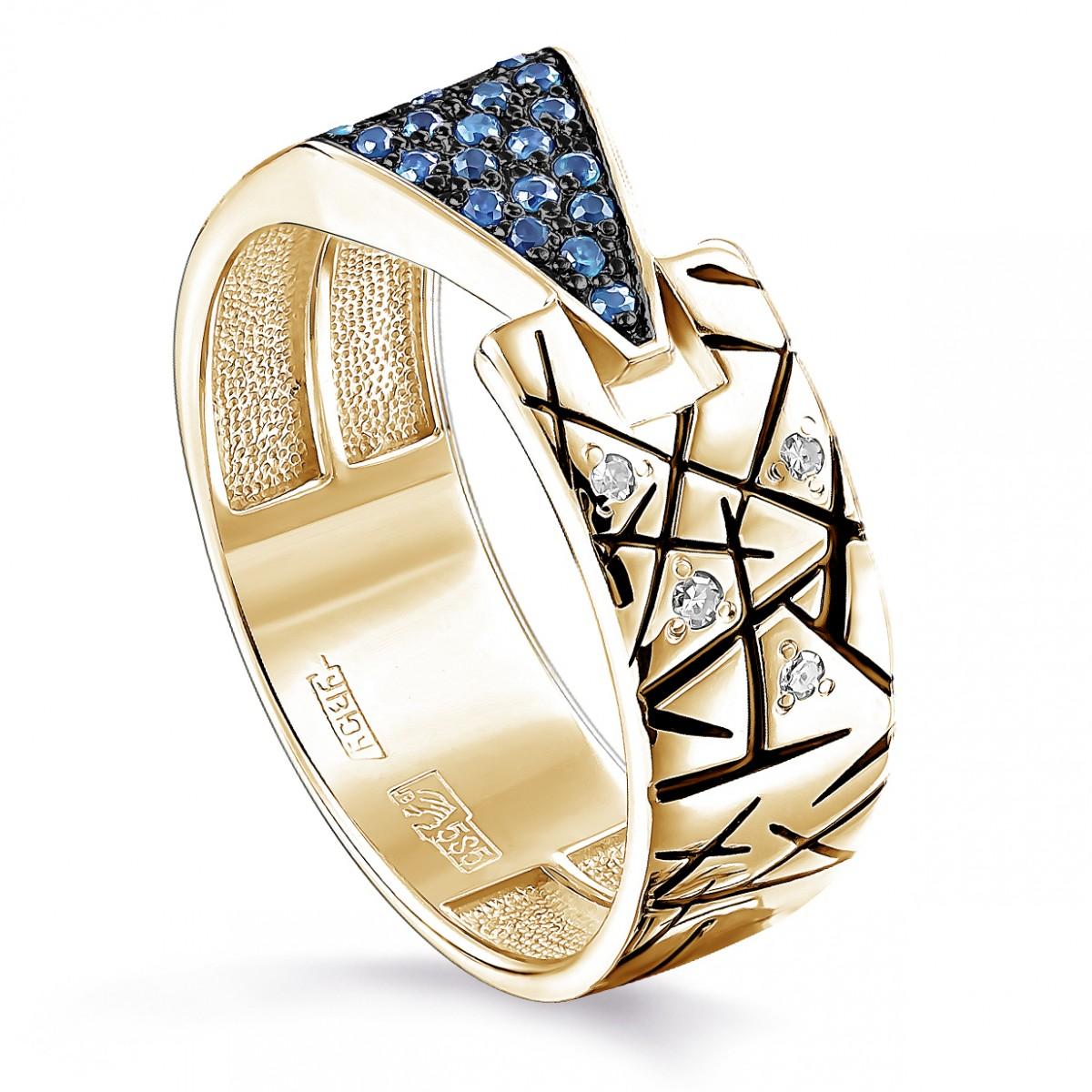 Кольцо из лимонного золота Бриллиант и Топаз арт. 11-21147-2302 11-21147-2302