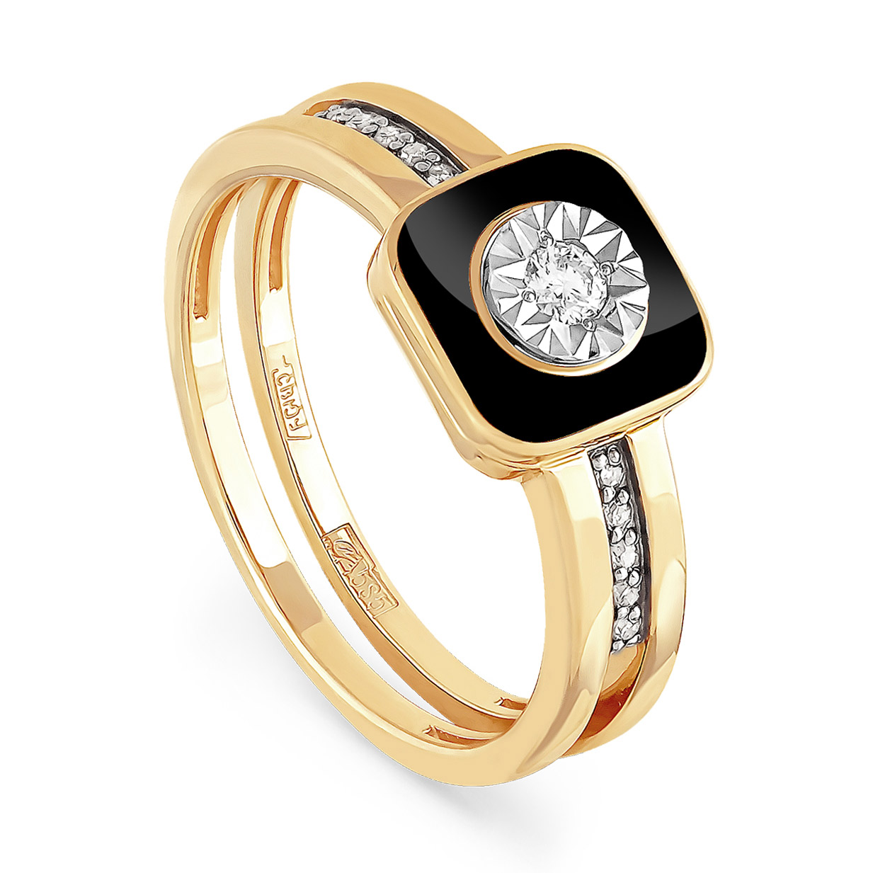 Кольцо из лимонного золота Бриллиант арт. 11-2804-1002 11-2804-1002