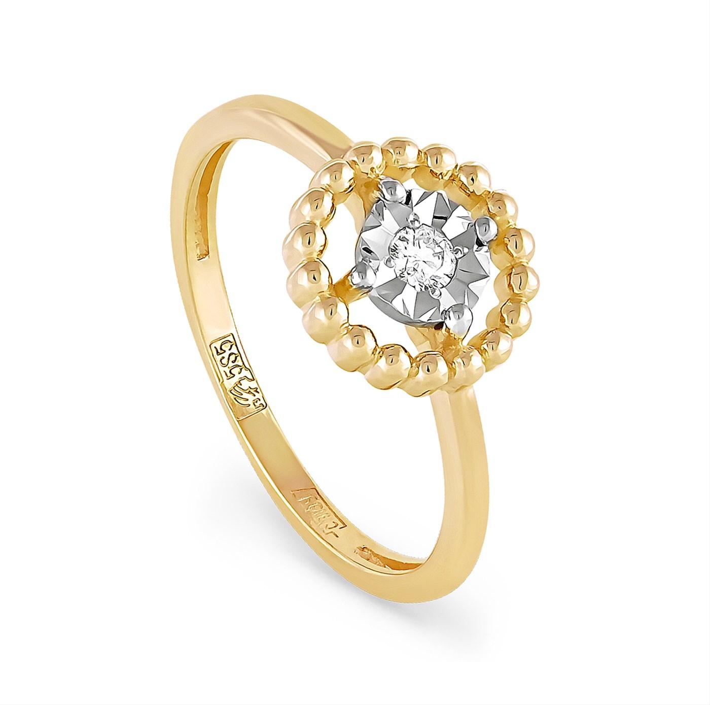 Кольцо из лимонного золота Бриллиант арт. 11-2903-1000 11-2903-1000