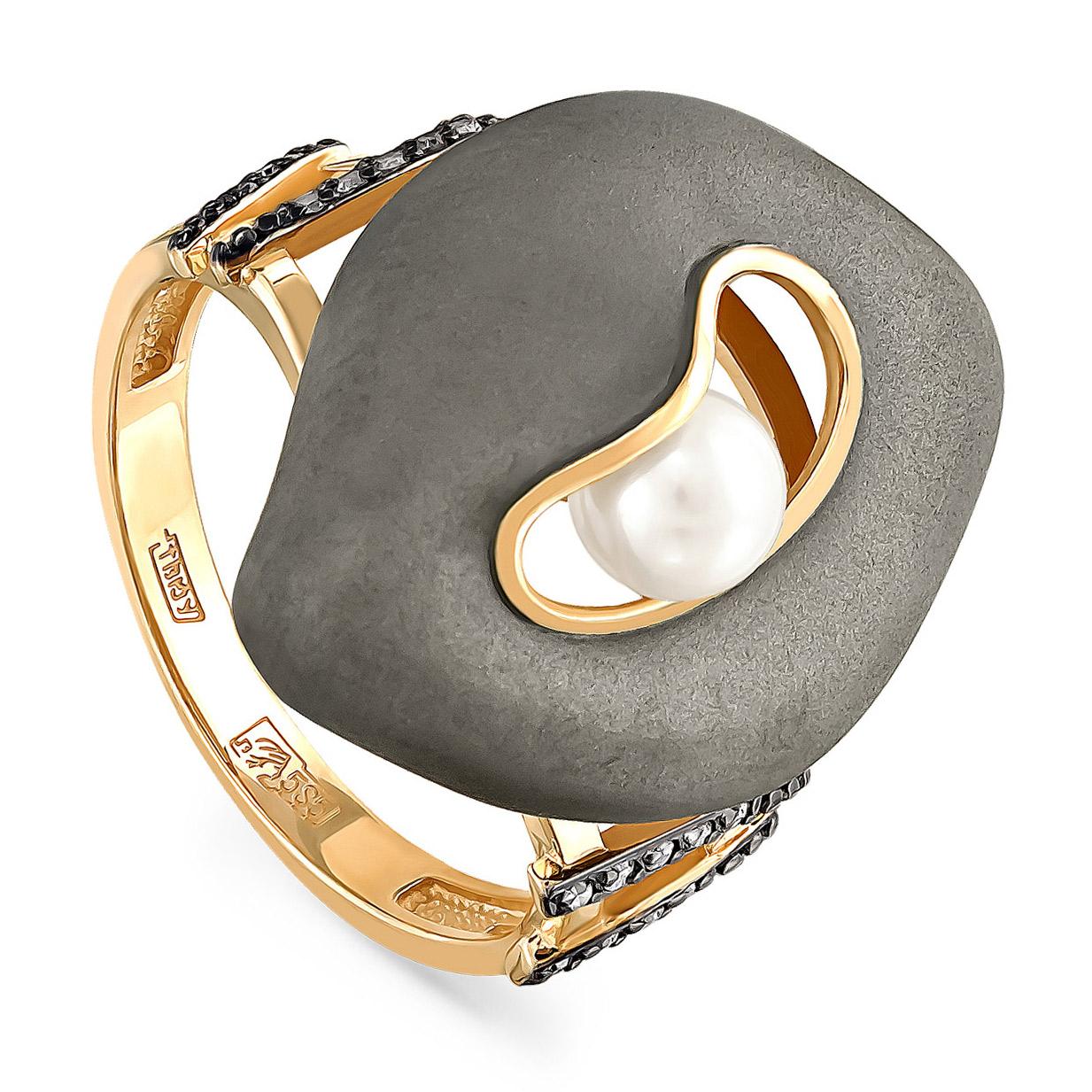 Кольцо из лимонного золота Бриллиант и Жемчуг арт. 11-2992-1500 11-2992-1500