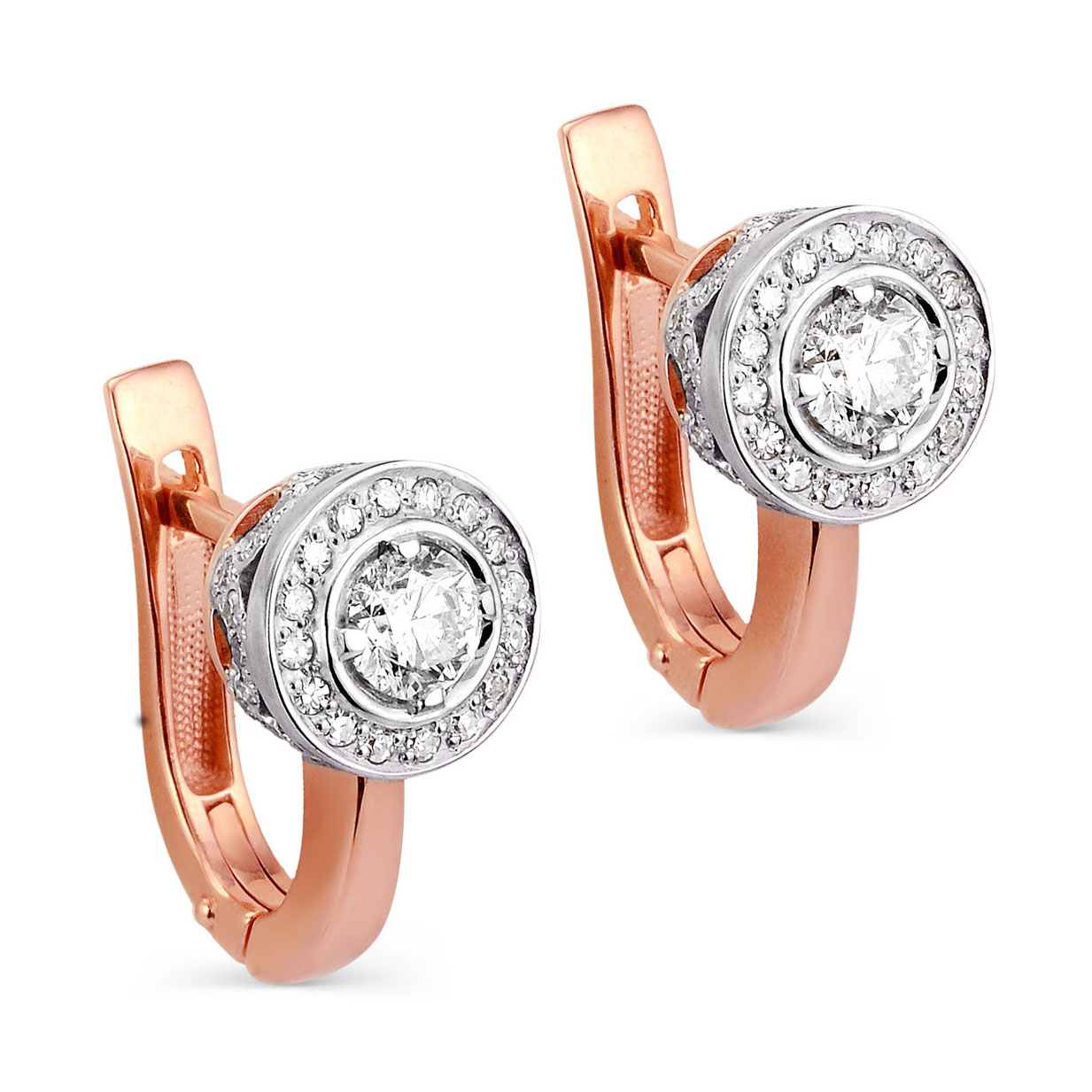 Золотые серьги с бриллиантом арт. 12-0392-1000 12-0392-1000