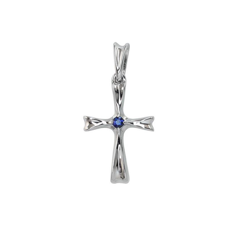 Золотой крест с изумрудом арт. 3-0048-1000 3-0048-1000