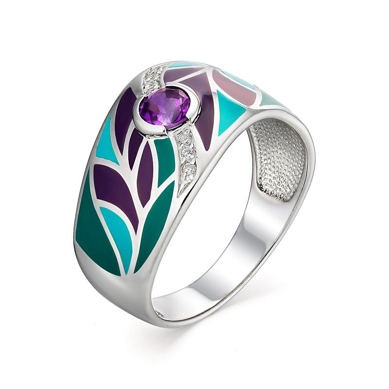Серебряное кольцо Аметист и Фианит арт. 01-0930/0м30-00 01-0930/0м30-00