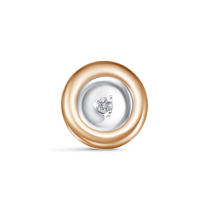 Золотой подвес с бриллиантом и сапфиром арт. п0755-120/2 п0755-120/2