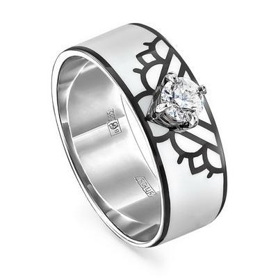Кольцо из белого золота Бриллиант арт. 11-11226-1010 11-11226-1010