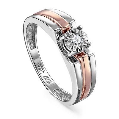 Кольцо из белого золота Бриллиант арт. 11-11245-1000 11-11245-1000