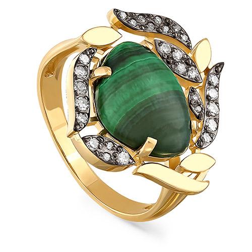 Кольцо из лимонного золота Бриллиант и Прочие арт. 11-21024-4600 11-21024-4600