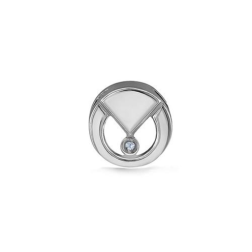 Серебряный подвес с бриллиантом арт. 13-230-1000 13-230-1000