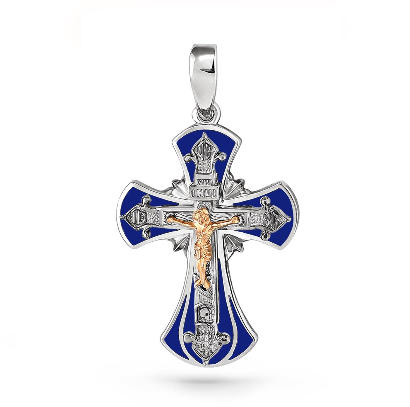 Серебряный крест арт. 3-121-0007 3-121-0007