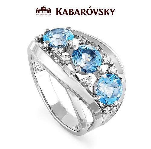 Серебряное кольцо Кристалл сваровски и Фианит арт. 11-032 11-032