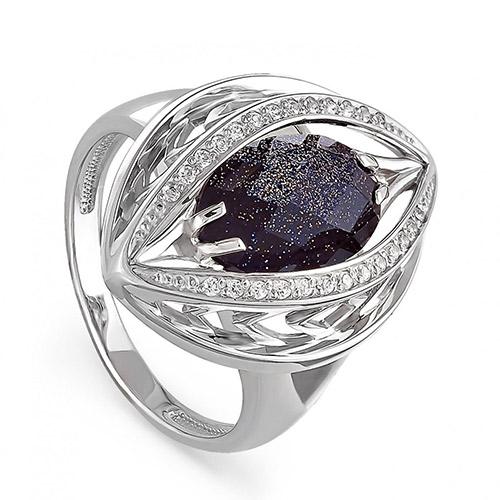 Серебряное кольцо Кристалл сваровски и Прочие арт. 11-067 11-067