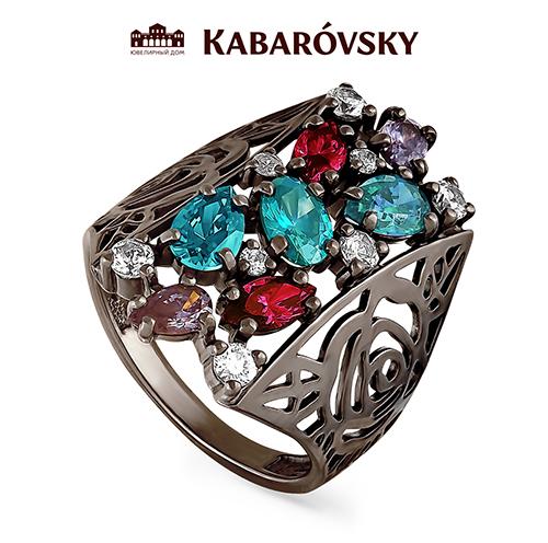 Серебряное кольцо Кристалл сваровски арт. 11-112-0989 11-112-0989