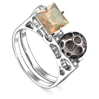 Серебряное кольцо Кристалл сваровски и Прочие арт. 11-166-50089 11-166-50089