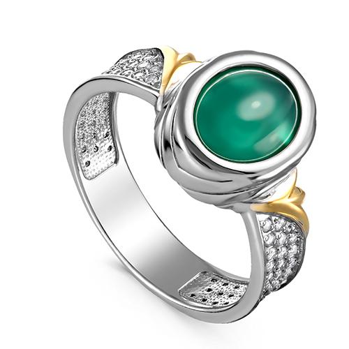 Серебряное кольцо Оникс и Фианит арт. 11-240-1984 11-240-1984