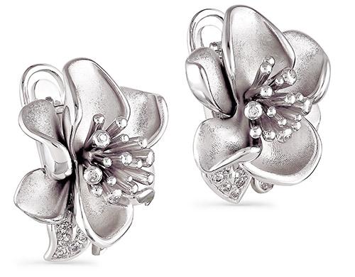 Серебряные серьги с фианитом арт. 12-003-7900 12-003-7900