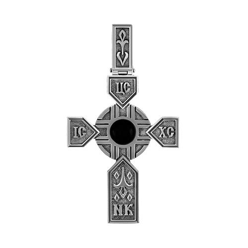 Серебряный крест с ониксом арт. 3-185-6783 3-185-6783