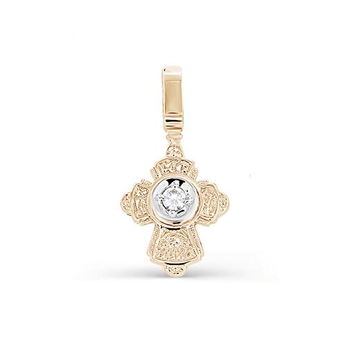 Серебряный крест с фианитом арт. 3-191-7986 3-191-7986