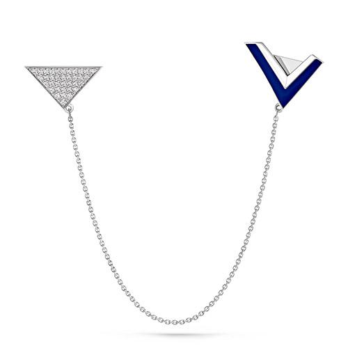 Серебряная брошь с кристаллом сваровски арт. 5-023-8107 5-023-8107