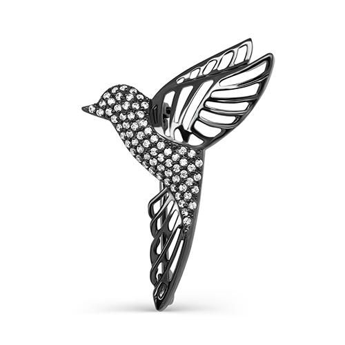 Серебряная брошь с фианитом арт. 5-033-7989 5-033-7989