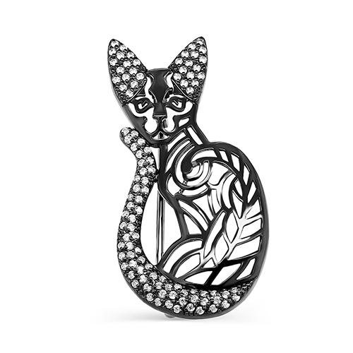 Серебряная брошь с фианитом арт. 5-037-7989 5-037-7989