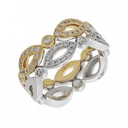 Кольцо из лимонного золота Бриллиант арт. 010612-ж/б 010612-ж/б