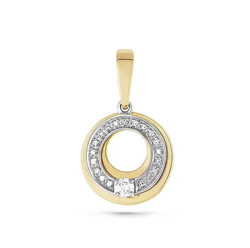 Подвес из лимонного золота с бриллиантом арт. 13-2458-1000 13-2458-1000