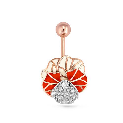 Золотой пирсинг с бриллиантом арт. 9-0004-1029 9-0004-1029