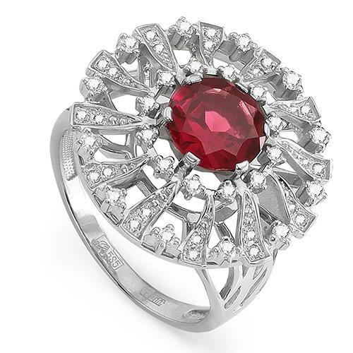Серебряное кольцо Кристалл сваровски и Прочие арт. 11-080-2100 11-080-2100