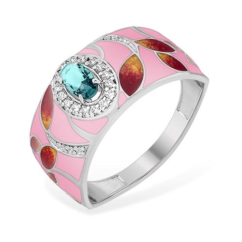 Серебряное кольцо Топаз и Фианит арт. 1015414093-501 1015414093-501