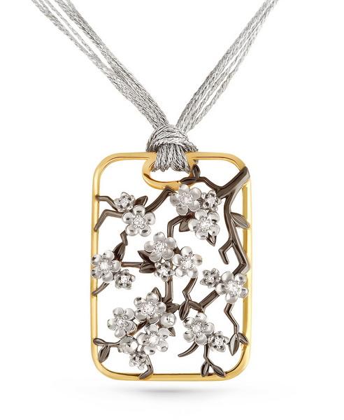 Подвес из лимонного золота с бриллиантом арт. 3-2311-1000 3-2311-1000