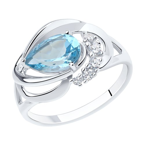 Серебряное кольцо Топаз и Фианит арт. 92011915 92011915