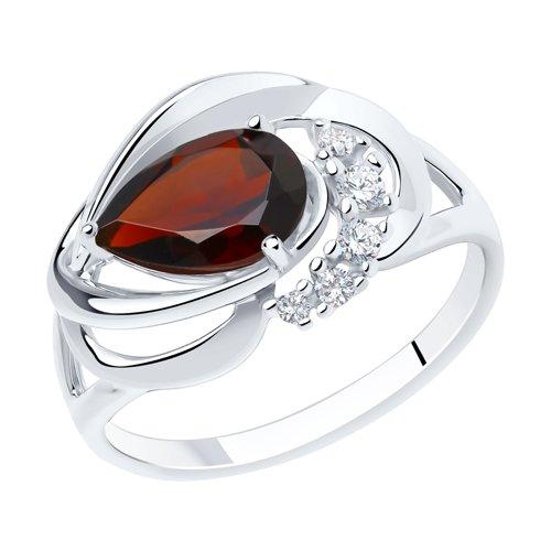 Серебряное кольцо Гранат и Фианит арт. 92011916 92011916
