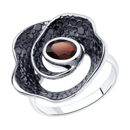 Серебряное кольцо Гранат арт. 92011946 92011946