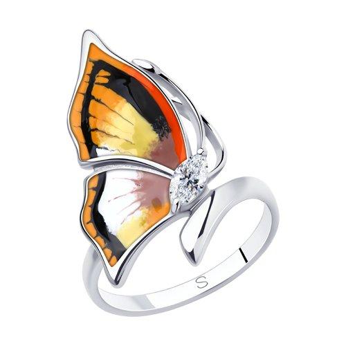 Серебряное кольцо Фианит и Эмаль арт. 94013149 94013149