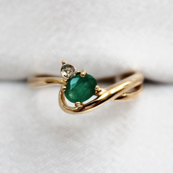Золотое кольцо Бриллиант и Изумруд арт. 230388ки 230388ки