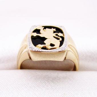 Золотое кольцо Бриллиант и Оникс арт. 450071ко 450071ко