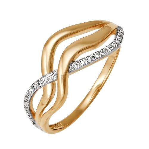 Золотое кольцо Фианит арт. 01-0079 01-0079
