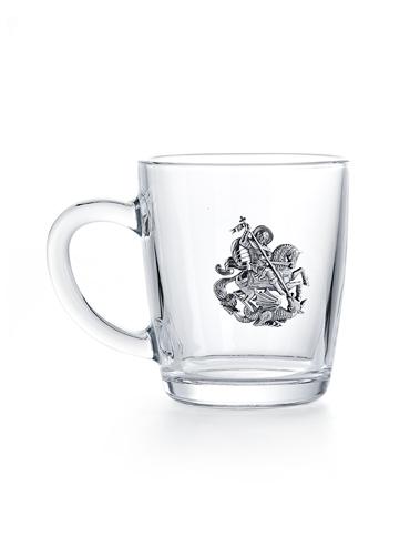 Кружка с серебром позолоченным 925 пробы арт. Георгий Победоносец -1 Георгий Победоносец -1