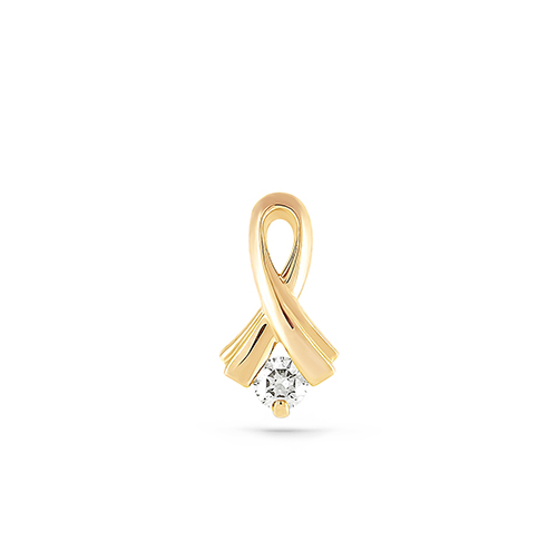 Подвес из лимонного золота с бриллиантом арт. 3-2082-1000 3-2082-1000