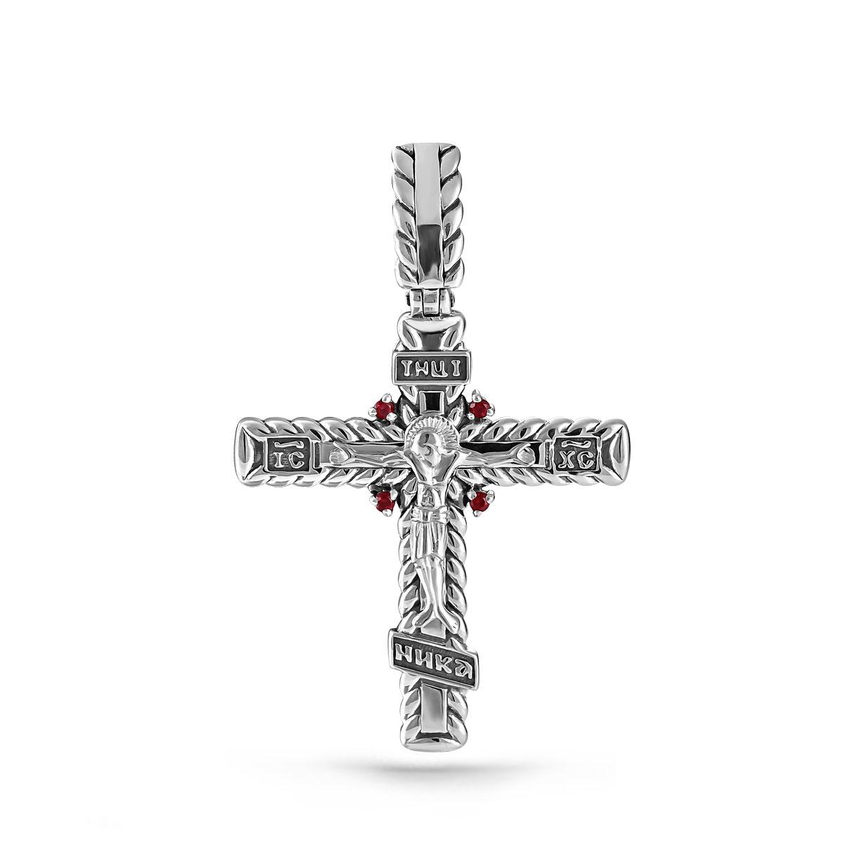 Серебряный крест с топазом арт. 3-164-8583 3-164-8583