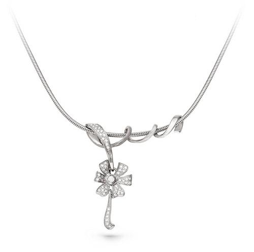 Серебряное колье с кристаллом сваровски арт. 6-008-8100 6-008-8100