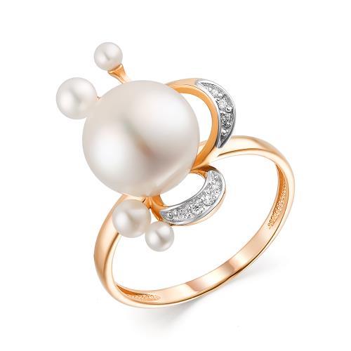Золотое кольцо Жемчуг и Фианит арт. 11802765 11802765