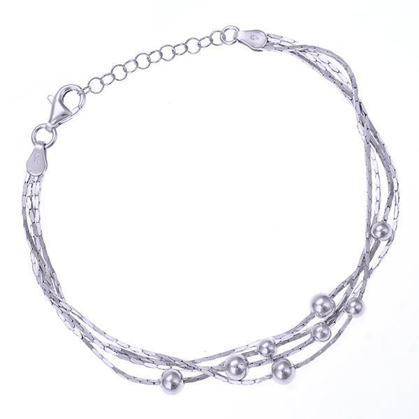 Серебряный браслет с родированием арт. BR3613-S BR3613-S