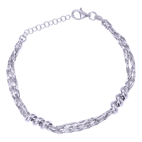 Серебряный браслет с родированием арт. BR3790-S BR3790-S