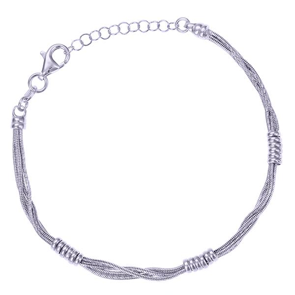 Серебряный браслет с родированием арт. BR3793-S BR3793-S